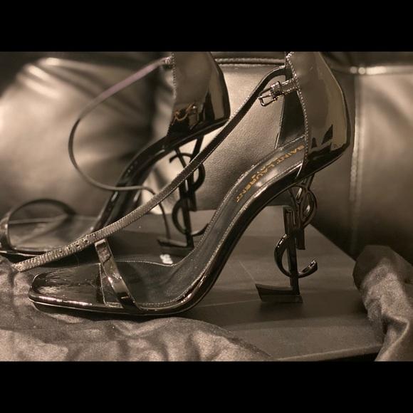 Saint Laurent Shoes - Saint Laurent Patent leather high heel sandal